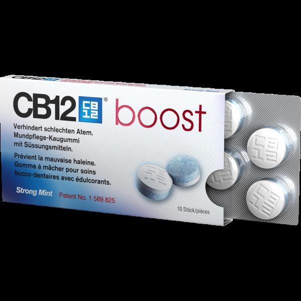 CB12 Boost: Strong Mint Kaugummi, 10 Stück