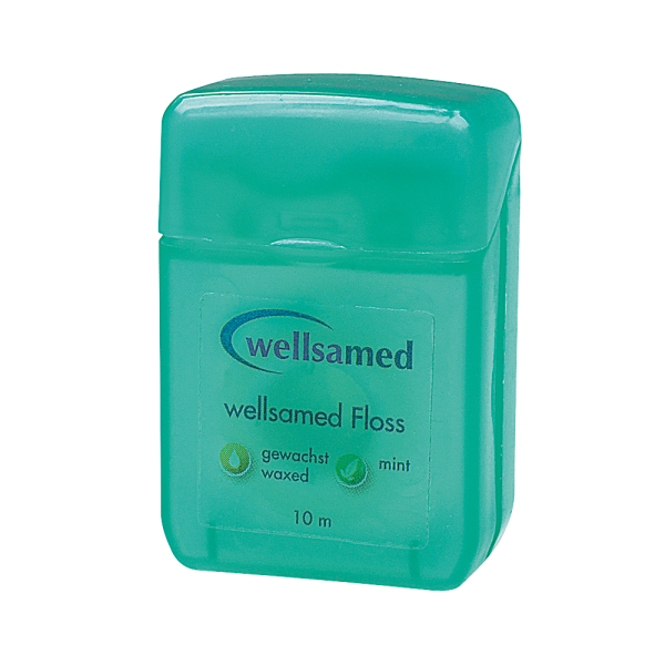 wellsamed Floss: gewachst, mint, 10 m