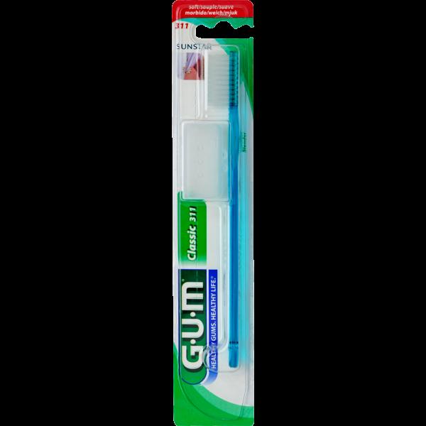 GUM Classic Zahnbürste, schlank, groß, weich (Blister)