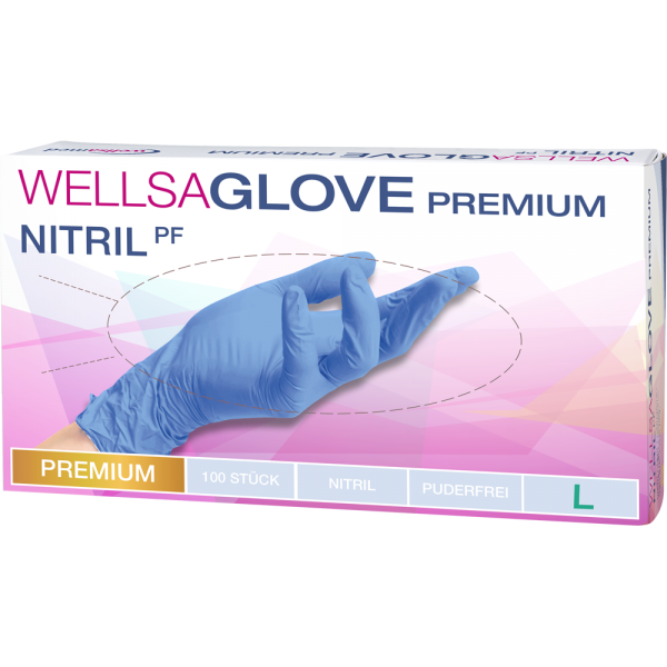 wellsaglove Untersuchungshandschuhe Premium Nitril: large