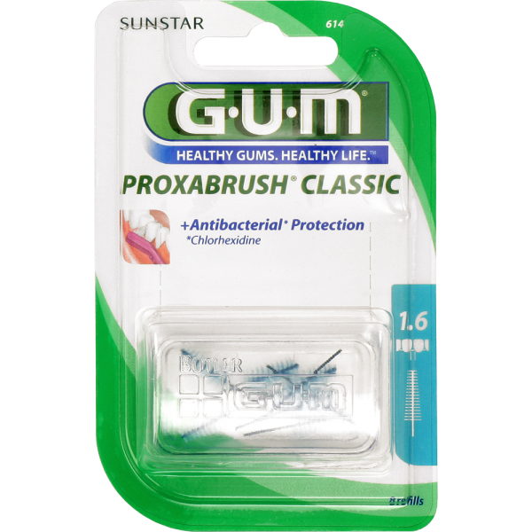 GUM Proxabrush Classic Ersatzbürsten: blau, ISO 5 (1,6 mm, Tanne)
