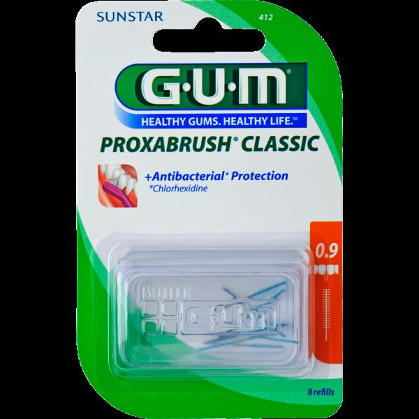 GUM Proxabrush Classic Ersatzbürsten: orange, ISO 2 (0,9 mm, Kerze)