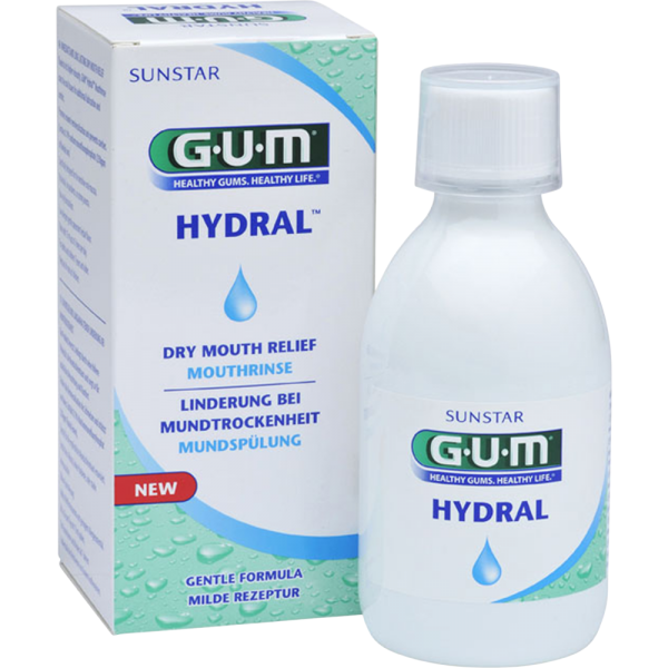 GUM Hydral Mundspülung: 300 ml Flasche