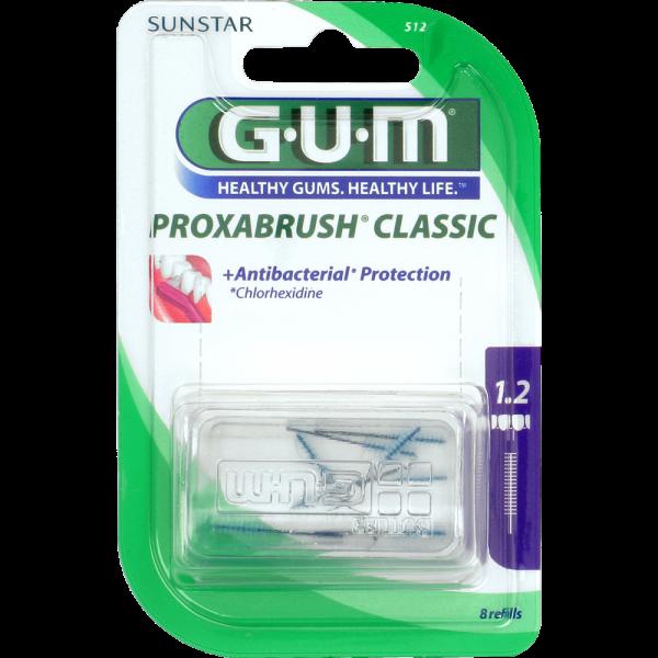 GUM Proxabrush Classic Ersatzbürsten: violett, ISO 3 (1,2 mm, Kerze)