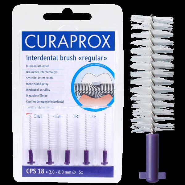 CURAPROX CPS 18 regular: 5 Stück, violett, >2,0 mm
