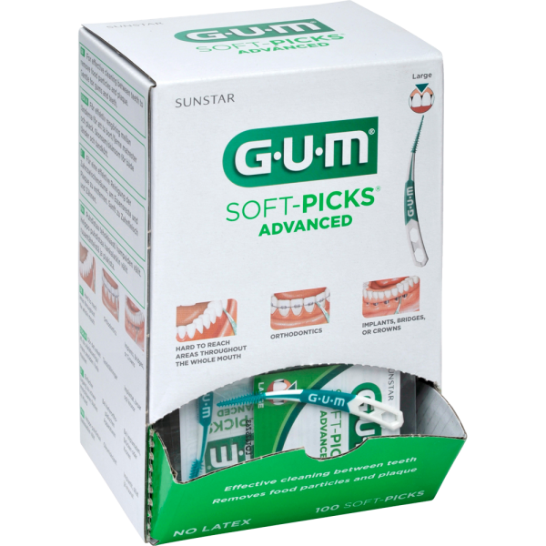 GUM Soft-Picks Advanced Spenderbox: Gross,100 x 1 Stück