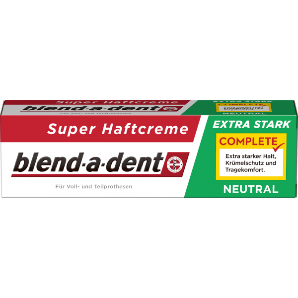 BLEND-A-DENT Super-Haftcreme: extra stark Neutral, 47 g