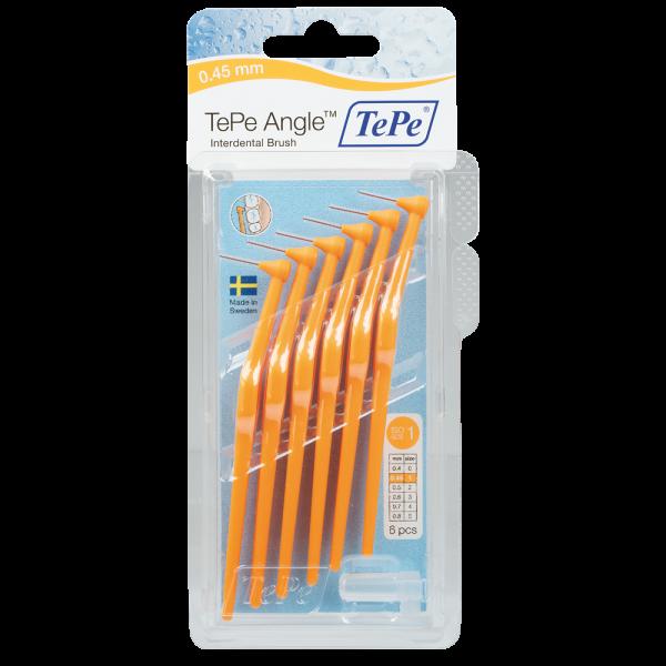 TePe Angle Interdentalbürste: orange / 0.45 mm / 6 Stück