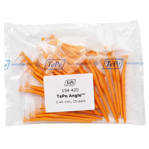 TePe Angle Interdentalbürste MULTIPACK: orange / 0.45 mm / 25 Stück