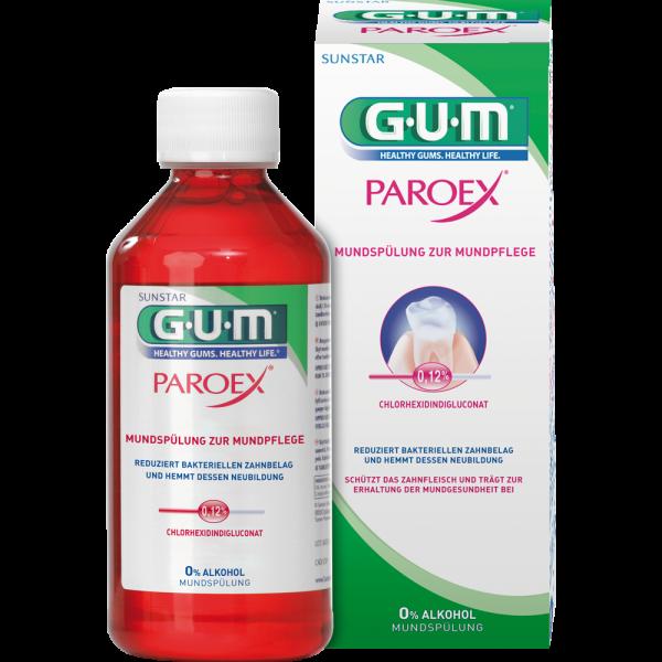 GUM Paroex Mundspülung: 0,12% CHX, 300 ml Flasche